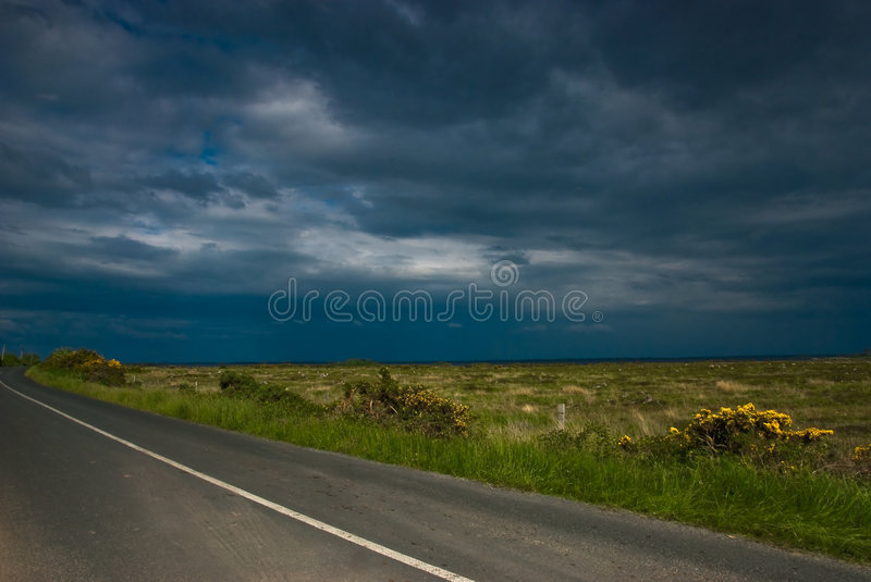 Download Empty Road Under Blue Sky, Ireland Stock Photography - Image: 6039652