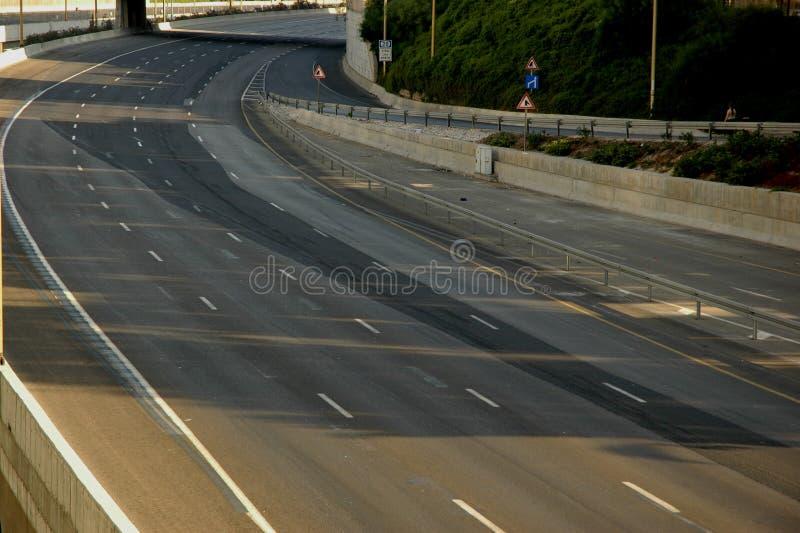 Empty roads stock photos