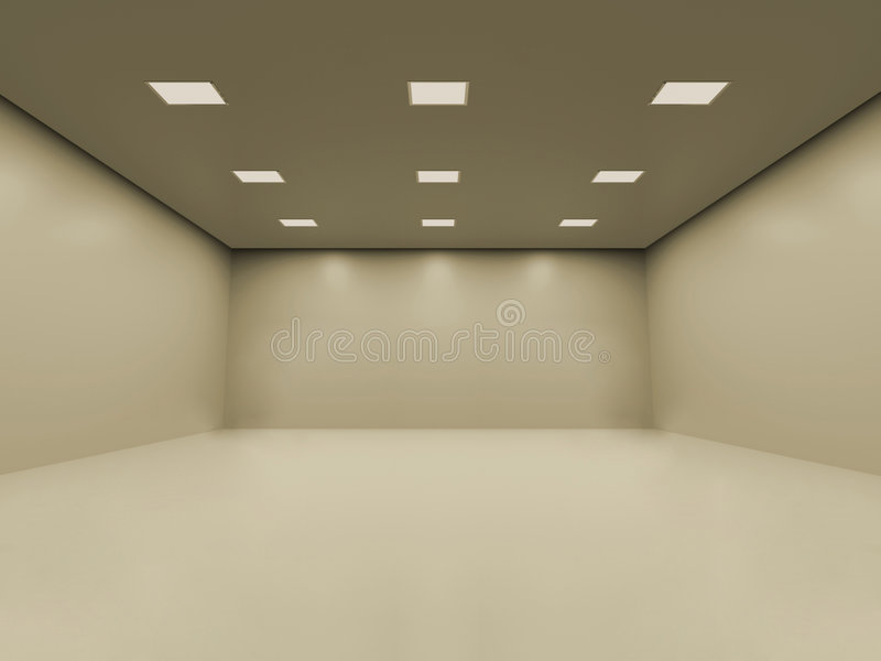 Empty room stock illustration