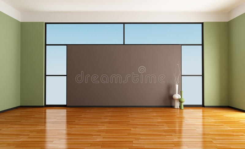 Empty room stock illustration