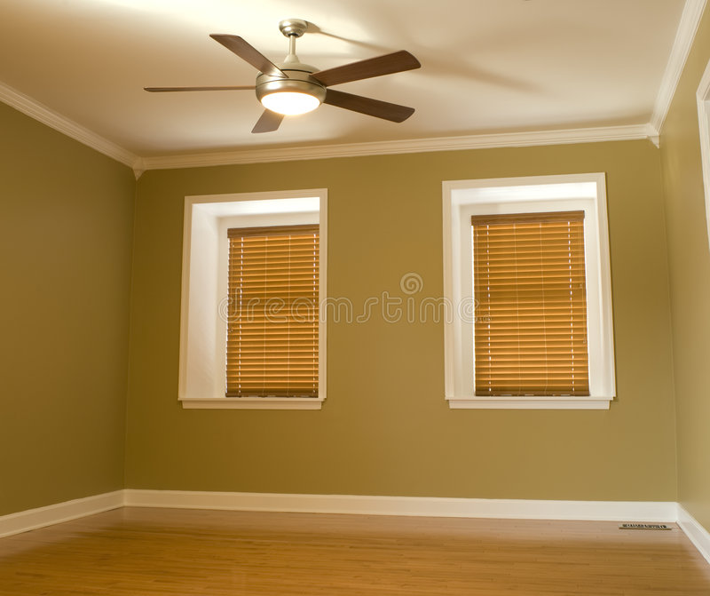 Empty room stock photo
