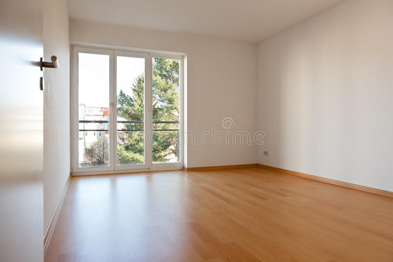 Empty room in apartment royalty free stock images