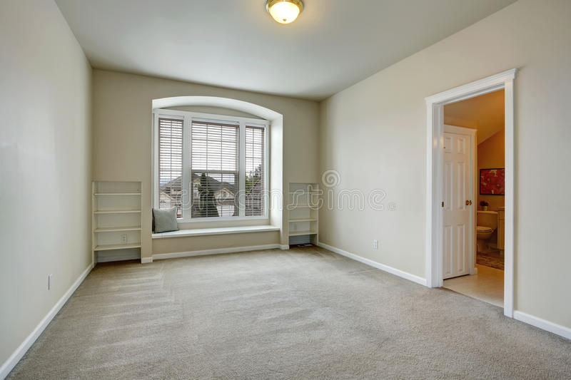 Empty Room With Arch Window And Bench Stock Photo Image