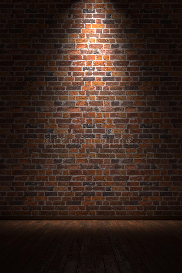 Empty Room With Brick Wall Stock Illustration