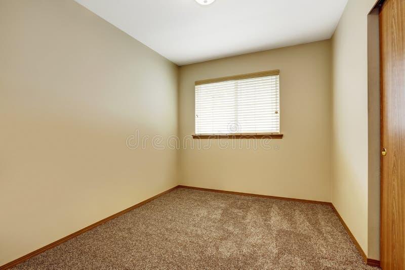 Empty Room With Brown Carpet Floor Stock Photo - Image of floor ...