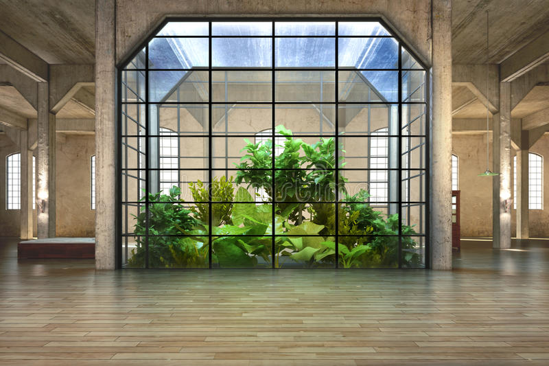 Atrium background vector illustration
