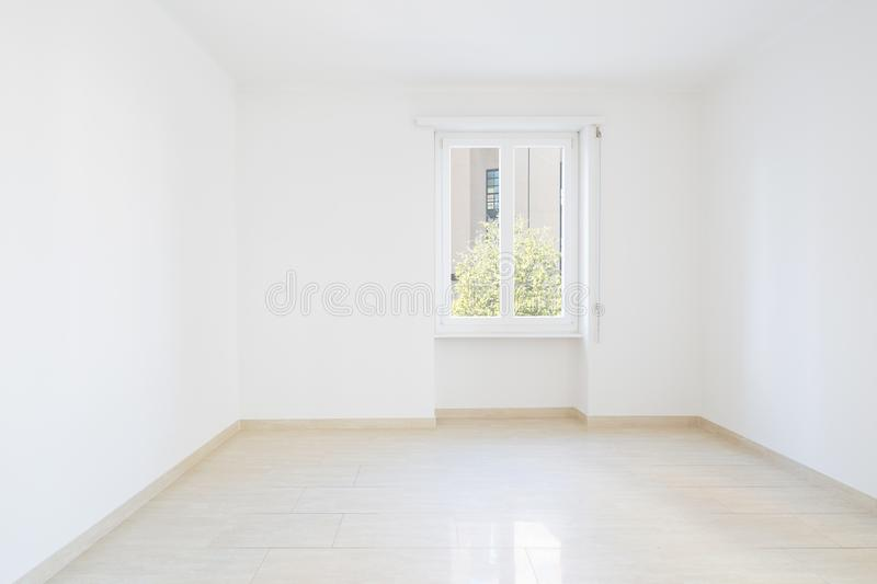 Empty room, clean white walls after renovation. Empty room, clean white walls stock photos