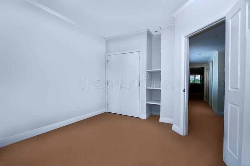 Empty room with a closet royalty free stock photos