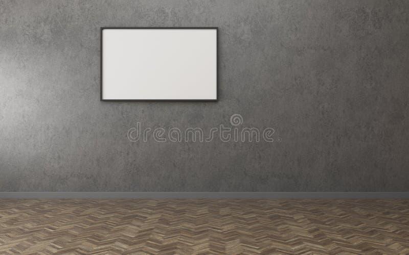 Empty room in condominium. vintage interior design. 3d rendering vector illustration