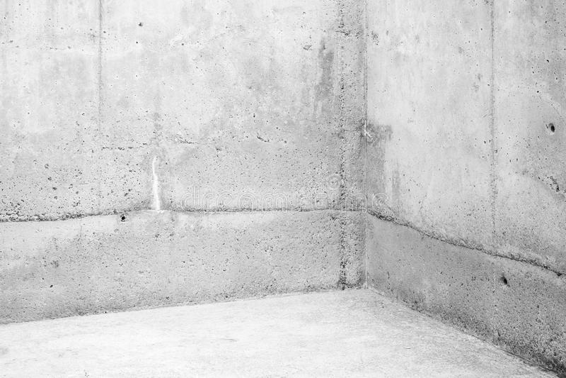 Empty room, corner of white stone walls royalty free stock photos