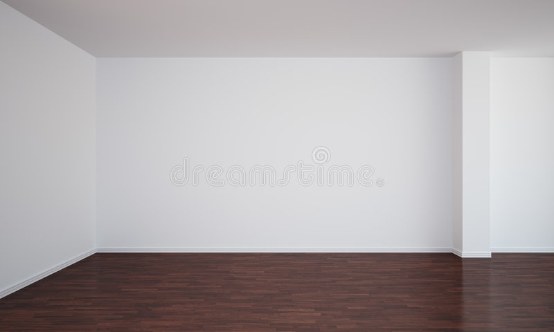 Empty Room With Dark Floor Stock Illustration