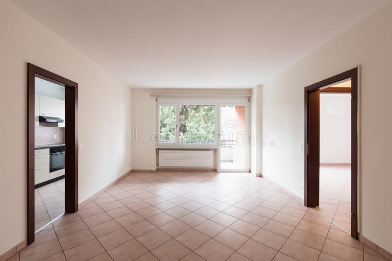Empty room with door and window royalty free stock photography