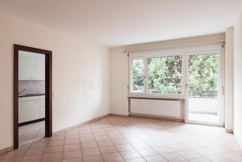 Empty room with door and window royalty free stock photos