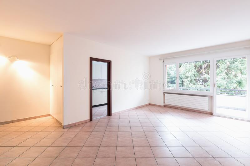 Empty room with door and window royalty free stock photos
