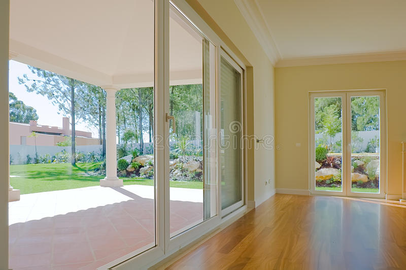 Download Empty Room With Garden View Royalty Free Stock Photos - Image: 13295228