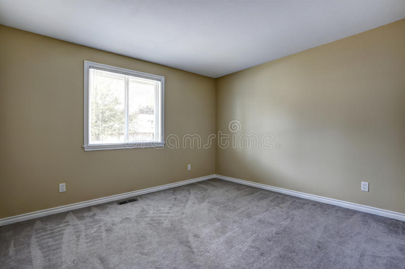 Empty room with grey carpet floor royalty free stock photos