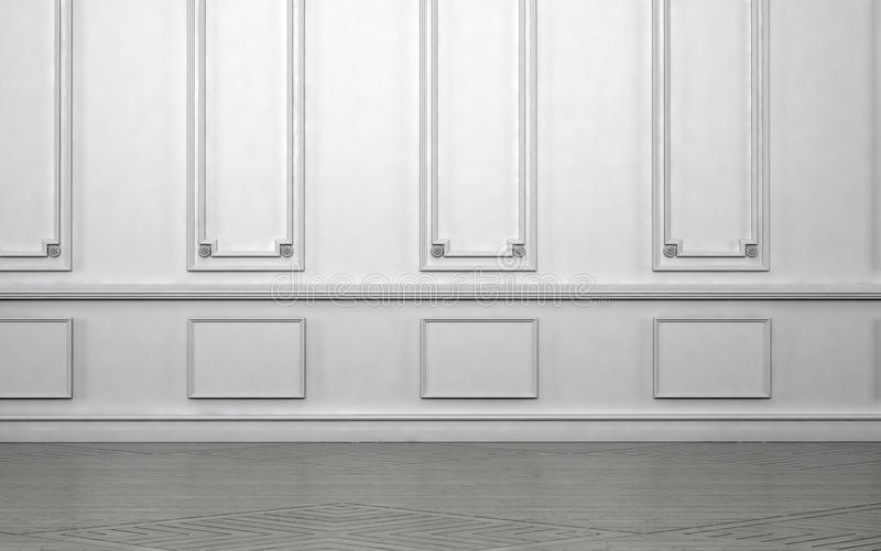 Download Empty Room Interior With Classic Wainscoting Stock Illustration    Image: 53171553