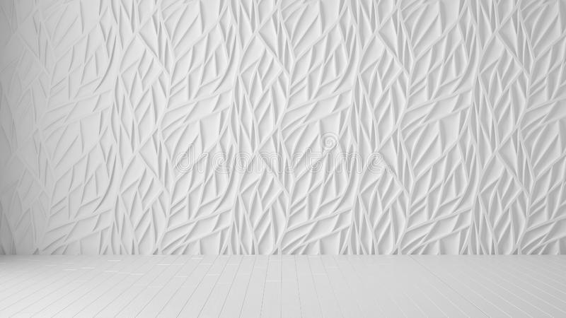 Empty room interior design, white panel and wooden blank floor, modern architecture background with copy space, template mockup. Idea royalty free stock photos