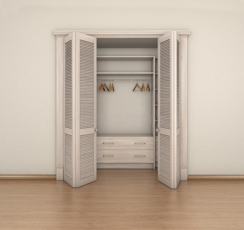 Empty Room Interior And Empty Closet Stock Illustration