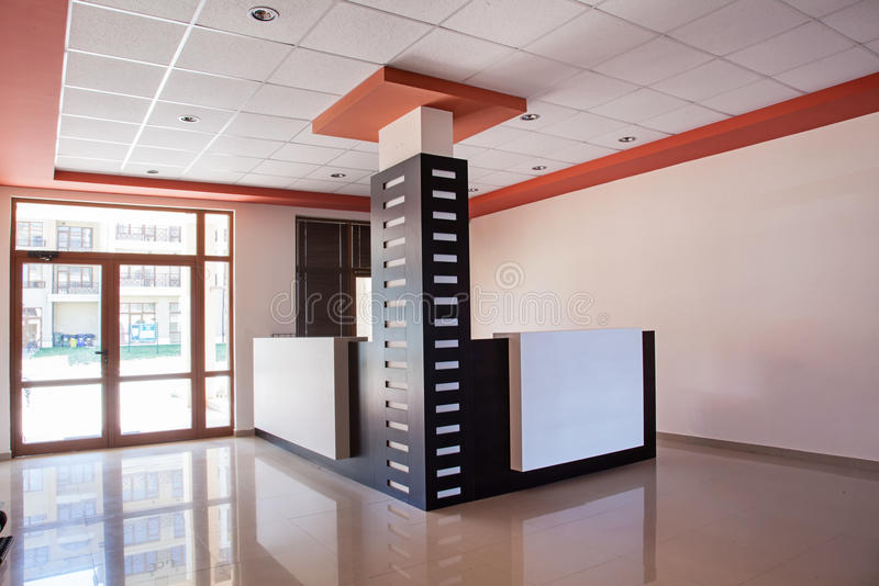 Empty room. office interior. reception hall in modern building stock image