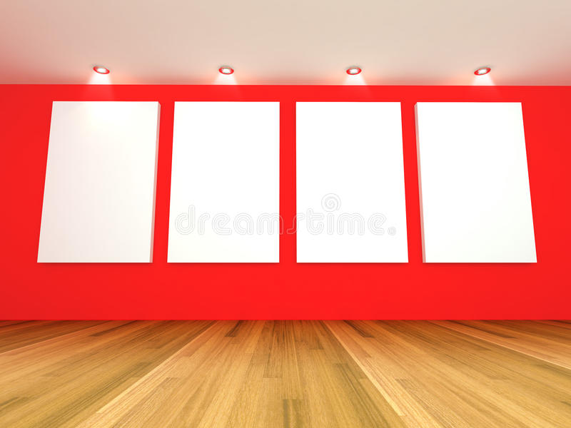 Download Empty room red gallery stock illustration. Image of border - 24643190