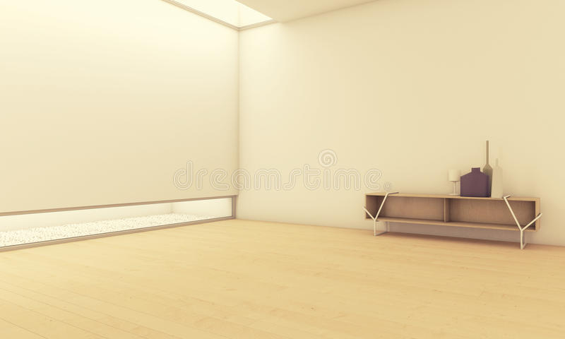 Empty Room With Vases Royalty Free Stock Images