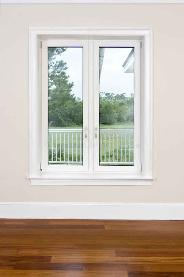 Download Empty Room With View Windows Stock Illustration - Image: 10317846