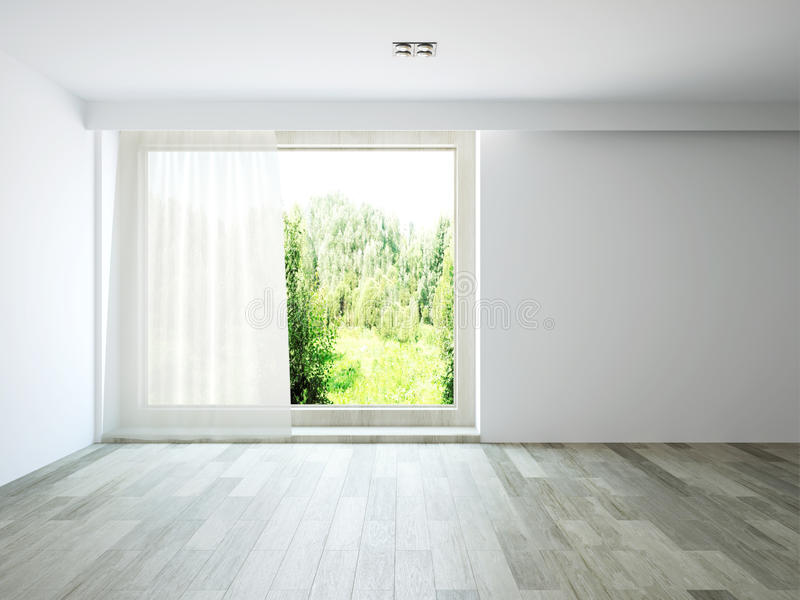 Empty room. The empty room with window vector illustration
