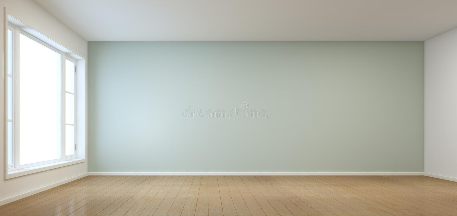 Empty Room With Window In Modern House Stock Photo Image