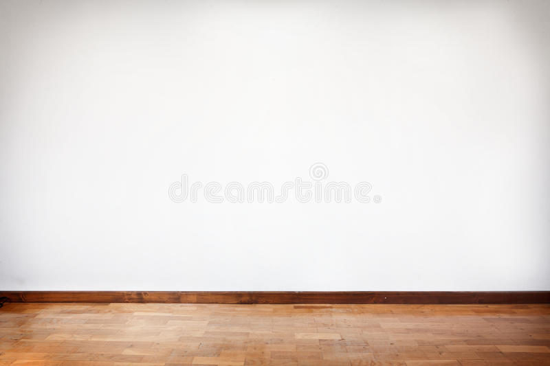 Empty room with wooden parquet royalty free stock image
