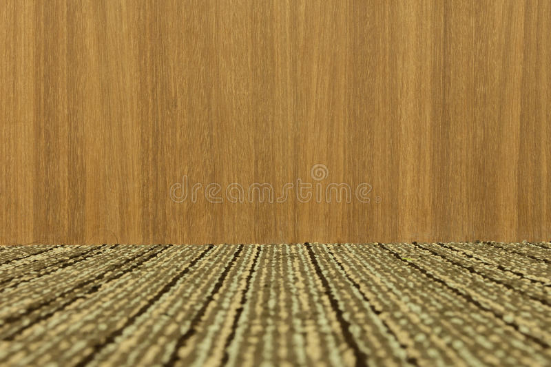Empty room with wooden wall and carpeting floor. - (Depth) stock photos