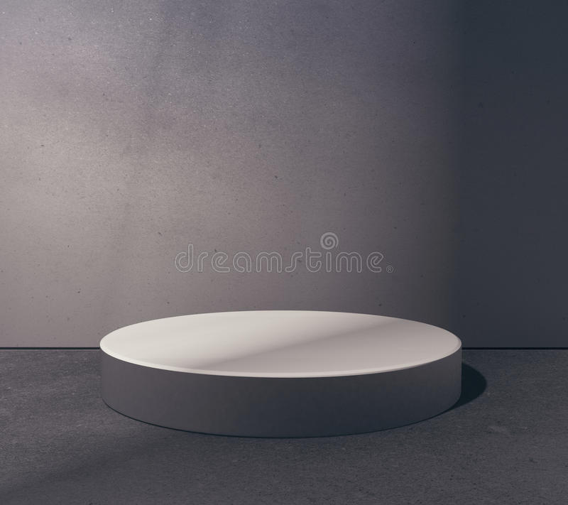 Empty round platform vector illustration