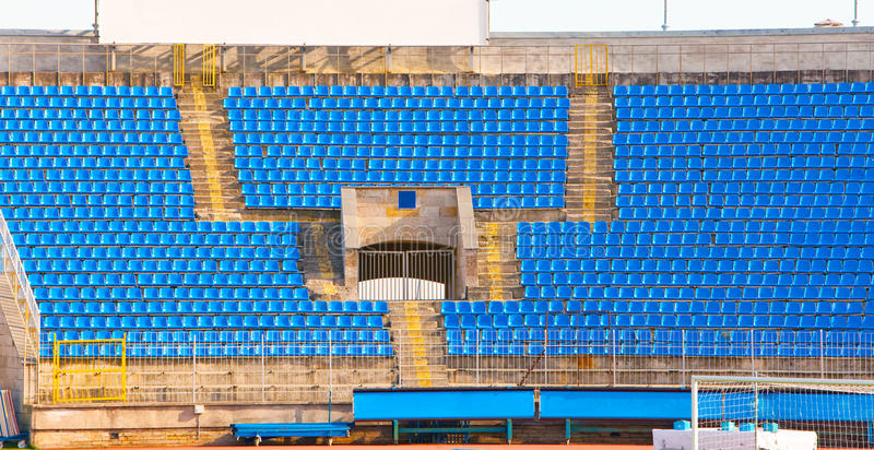 Download Empty Rows Of Seats At Football Stadium Stock Image - Image: 19235023