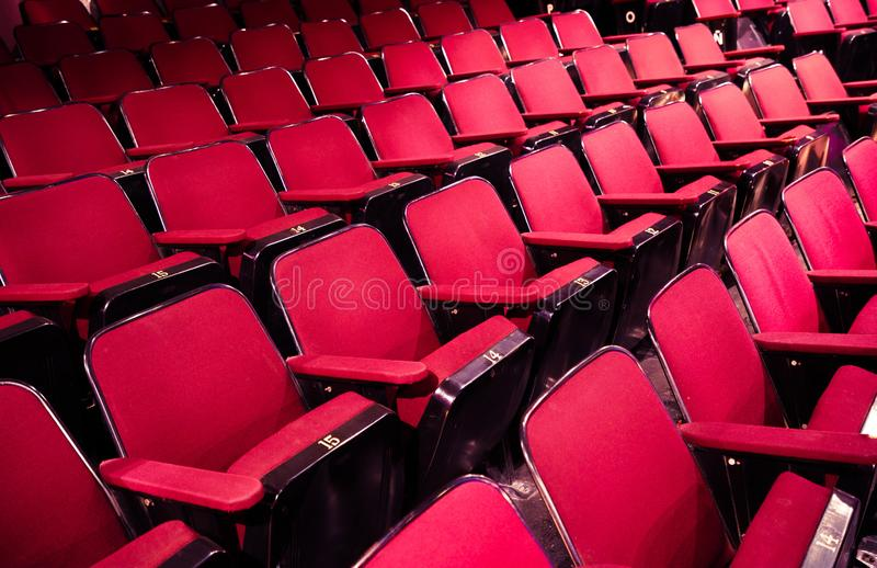 Empty theater /cinema seats royalty free stock photo