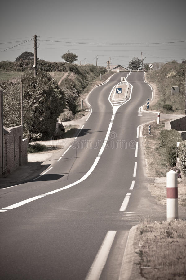 Download Empty Rural Curve Road stock photo. Image of direction - 27644176