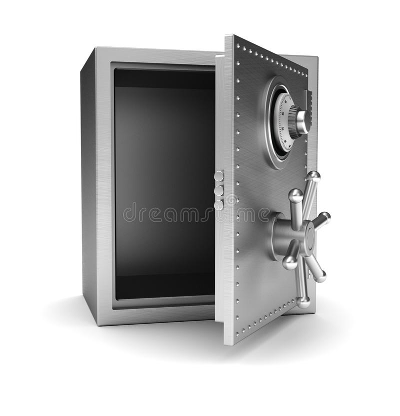 Empty safe royalty free illustration