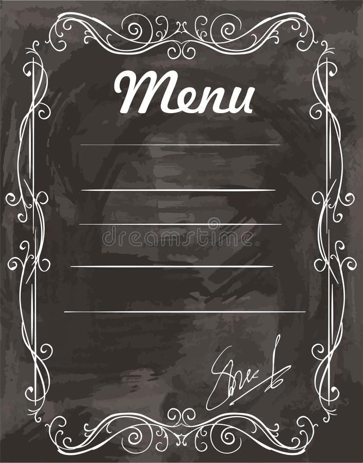 Empty sample menu stock vector. Illustration of cafe - 65453764