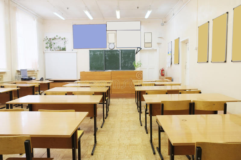 Classroom Design Specifications ~ Empty school class stock photo image
