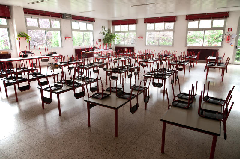 Download Empty school dining hall stock image. Image of refectory - 14576145