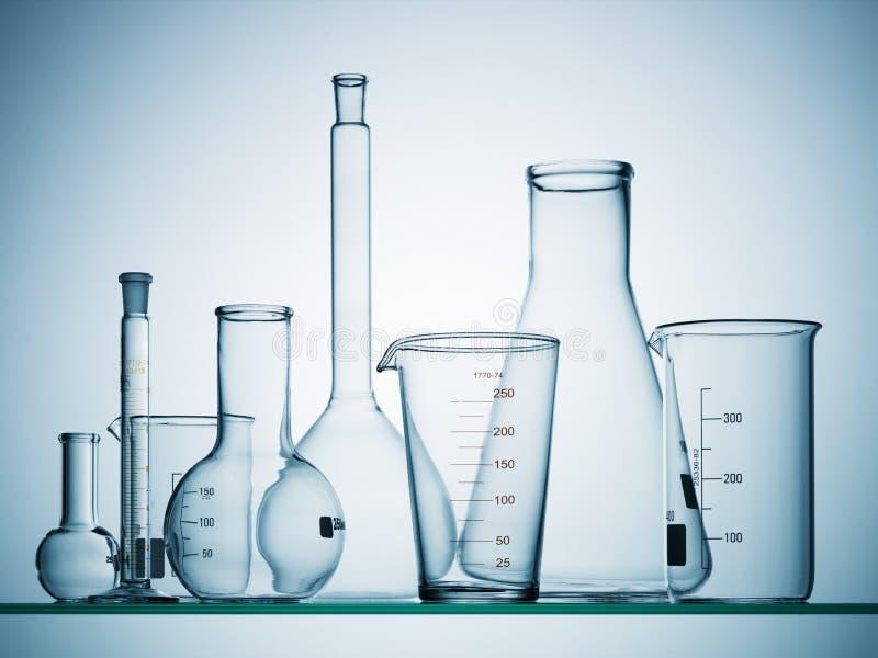 Empty science beakers stock photography