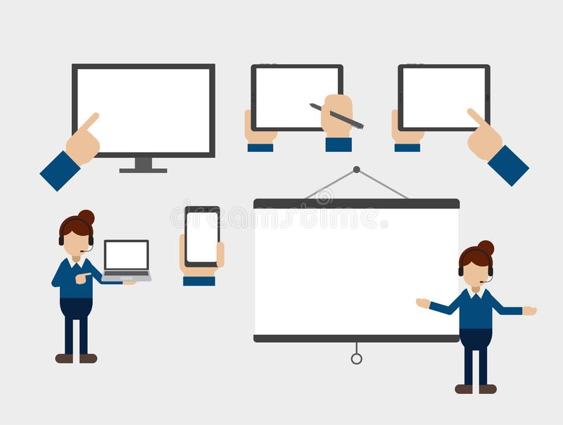 Empty screen devices royalty free illustration
