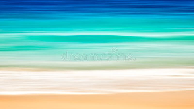 Empty sea and beach art background with copy space, Long exposure, blur motion blue abstract vintage tinted gradient background royalty free stock photos