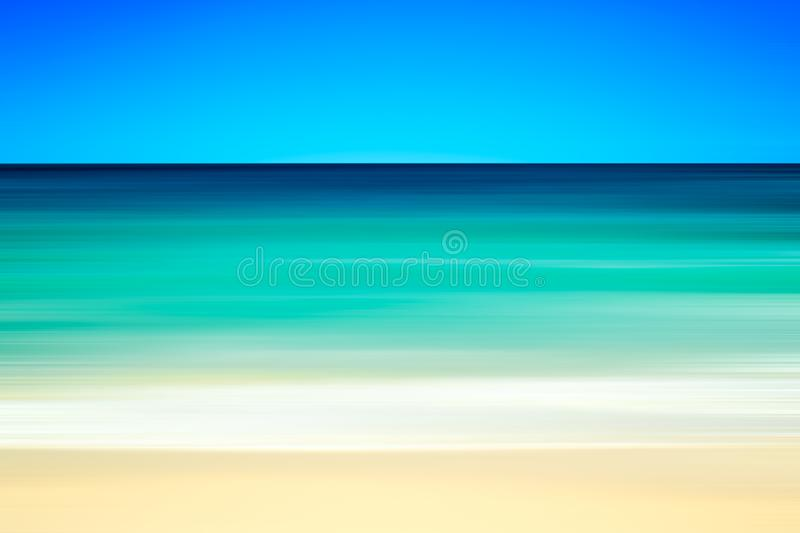 Empty sea and beach background with copy space, Long exposure, blur motion abstract background.  stock photos