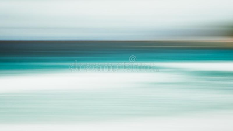 Empty sea and beach background with copy space, Long exposure, blur motion blue abstract gradient background.  royalty free stock photography