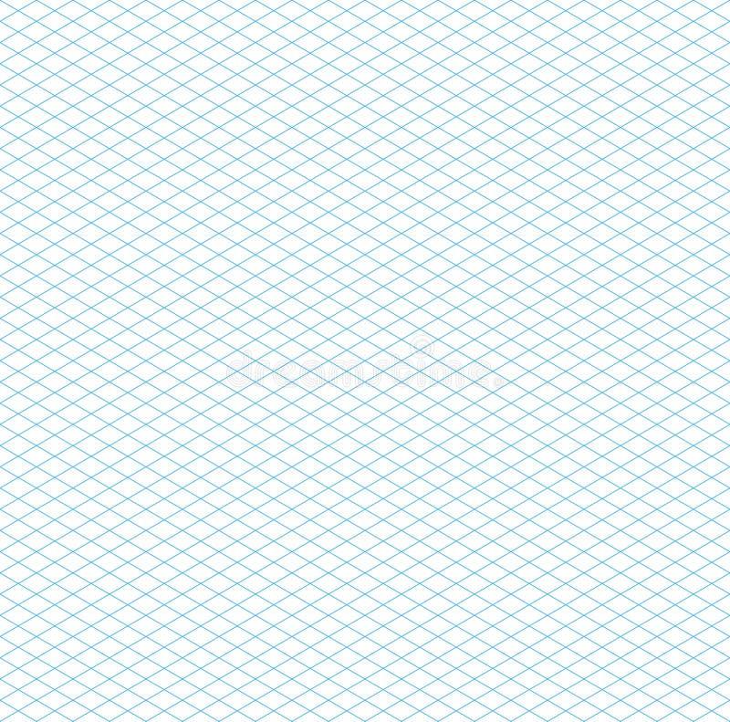 Empty Seamless Isometric Grid Pattern royalty free illustration
