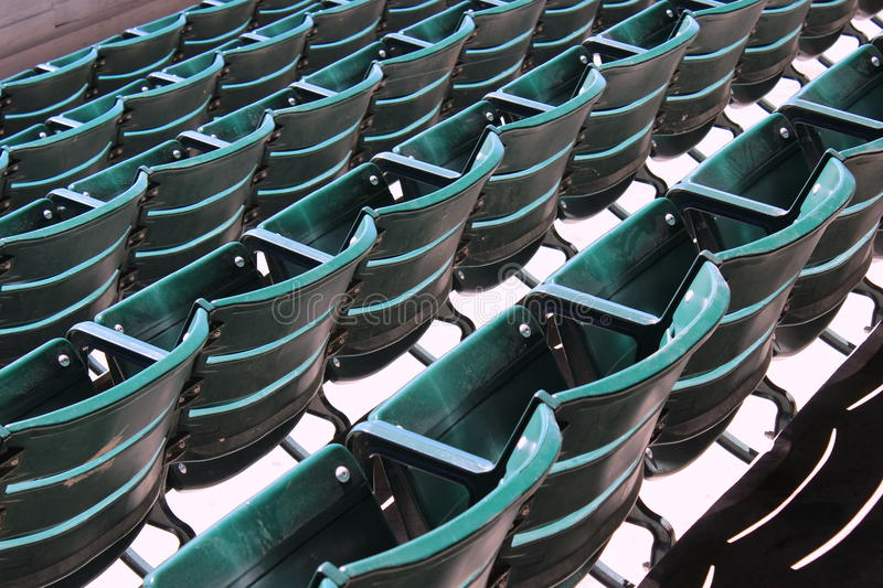 Empty Seats At An Outdoor Show Stock Image