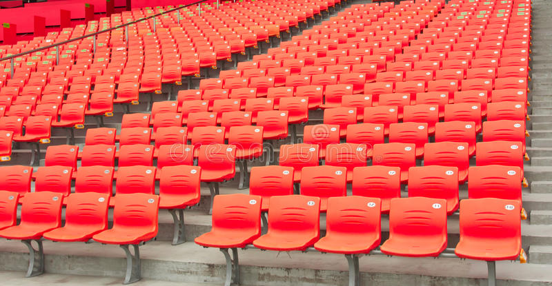 Empty seats of the stadium stock photos