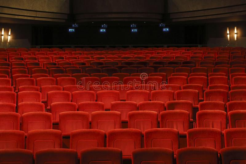 Empty seats in the theatre royalty free stock images