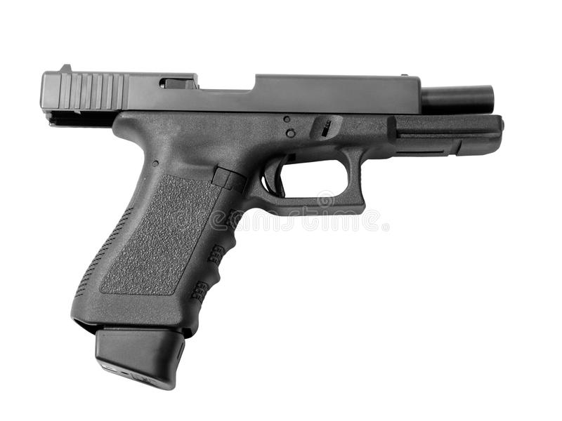 Empty semi-automatic handgun stock images