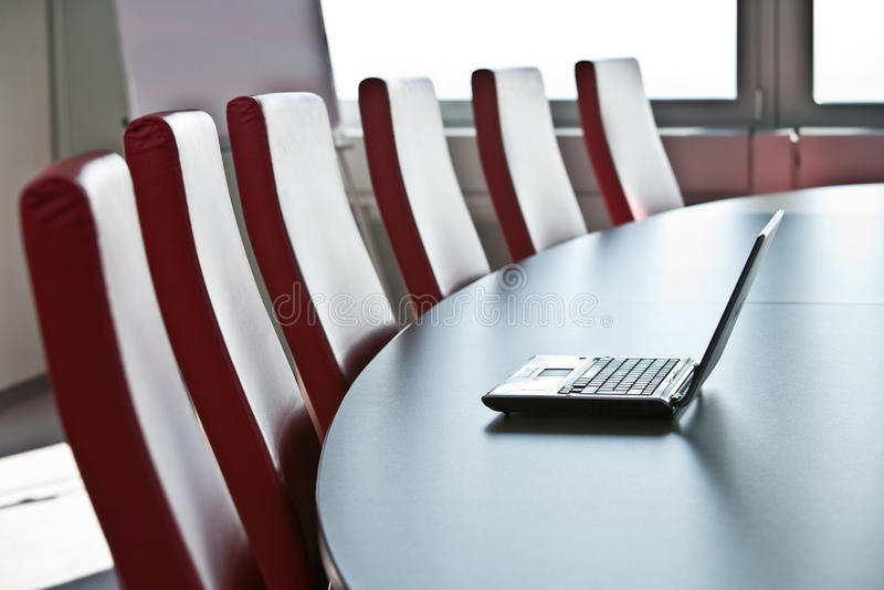 Download Empty seminar room stock photo. Image of modern, room - 14246618